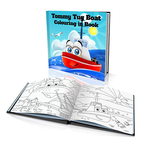 The Tug Boat Soft Cover Colouring Book