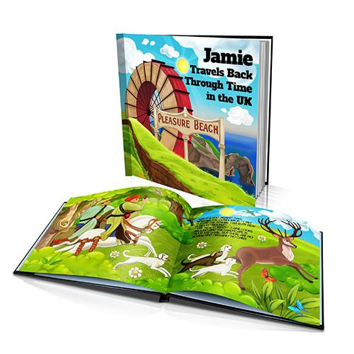 Large Hard Cover Story Book - Travels Back Through Time in UK