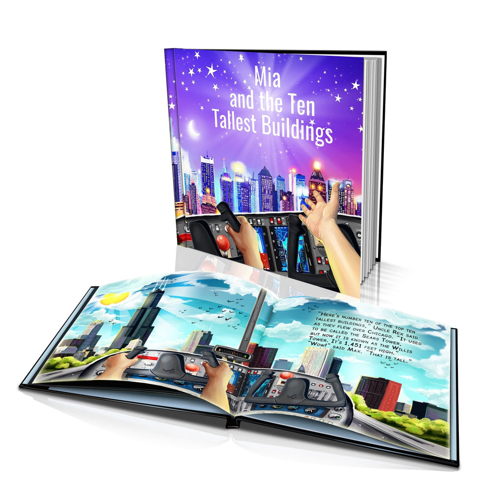 Large Hard Cover Story Book - Ten Tallest Buildings