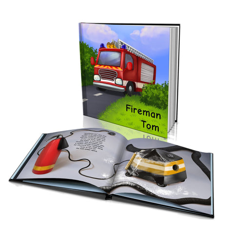 Large Hard Cover Story Book - Fireman