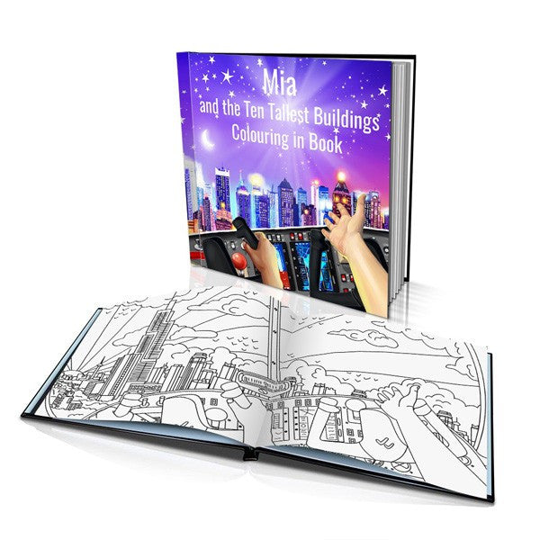 Ten Tallest Buildings Hard Cover Colouring Book