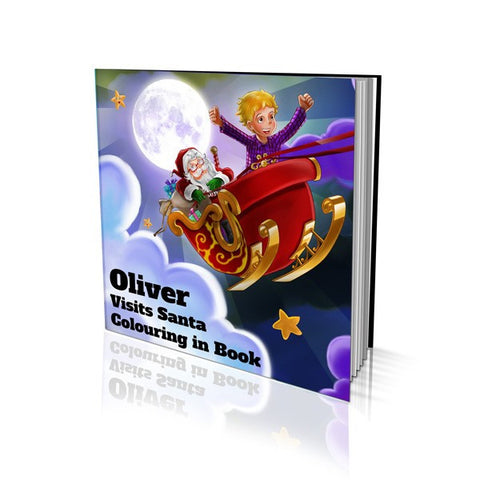 Visiting Santa Soft Cover Colouring Book