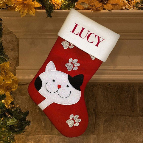 Cat Santa Stocking