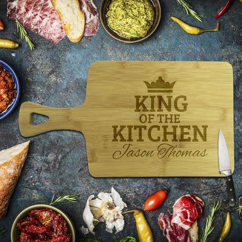 King of the Kitchen Rectangle Bamboo Serving Board