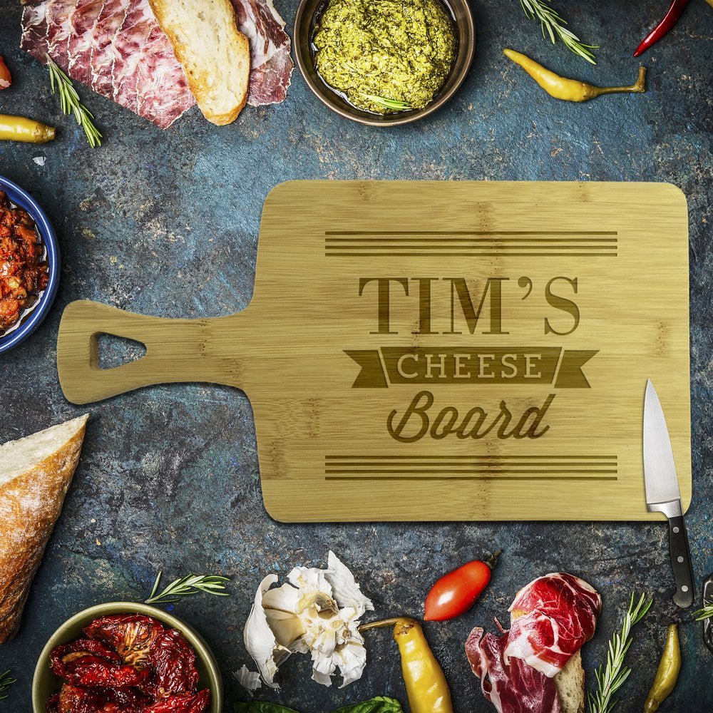 Tim's Cheese Rectangle Bamboo Serving Board