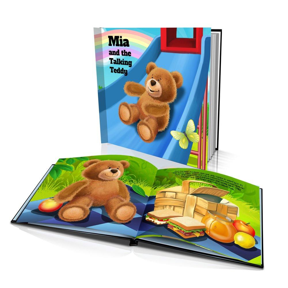 Large Hard Cover Story Book - The Talking Teddy