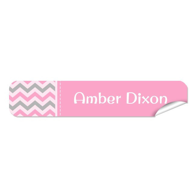 Mini Name Labels 72pk - Chevron