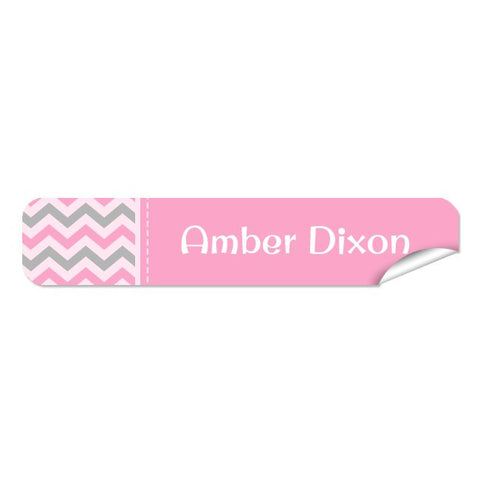 Mini Name Labels 76pk - Chevron