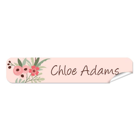 Mini Name Labels 76pk - Flower Wreath