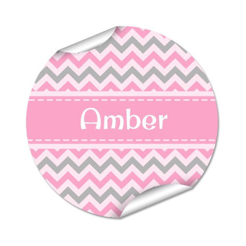 Chevron 48pk Label - Round