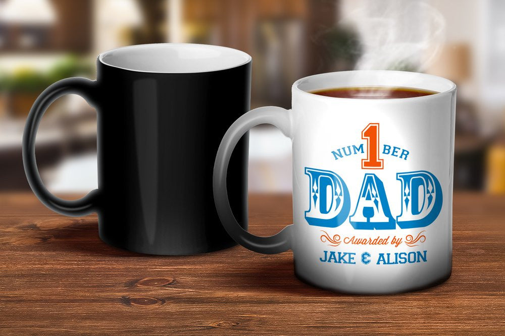 Number 1 Dad Magic Mug