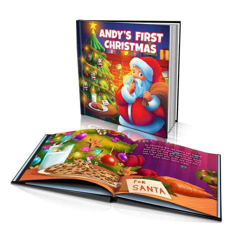 Large Hard Cover Story Book - First Christmas