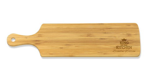King of the Kitchen Long Bamboo Serving Board