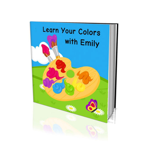 Large Hard Cover Story Book - Learn Your Colours