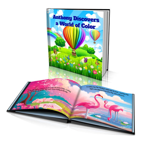 Large Hard Cover Story Book - Discovers a World of Colour