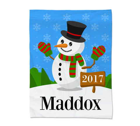Snowman Blanket - Medium (Temporary Out of Stock)