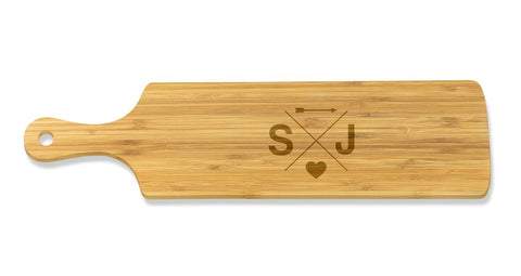Initial Long Bamboo Serving Board