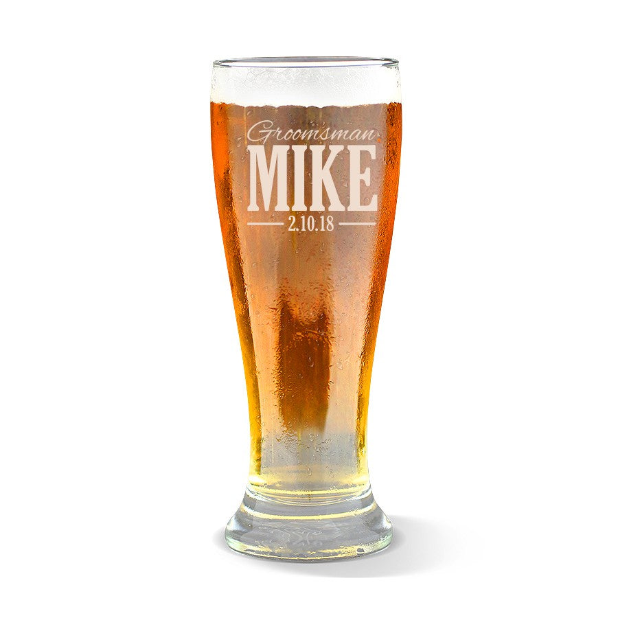 Wedding Premium 425ml Beer Glass