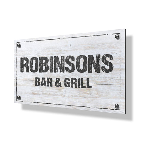 Bar & Grill Business Sign - 30x20""