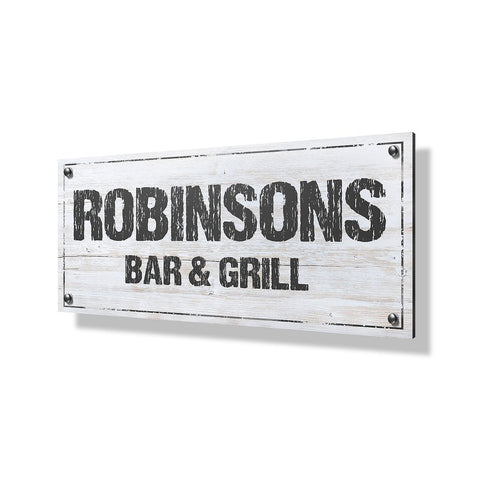 Bar & Grill Business Sign - 40x20""