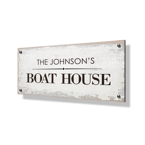 Boat House Business Sign - 24x12""