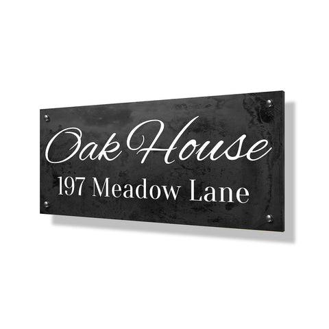 Oak House Business Sign - 24x12""
