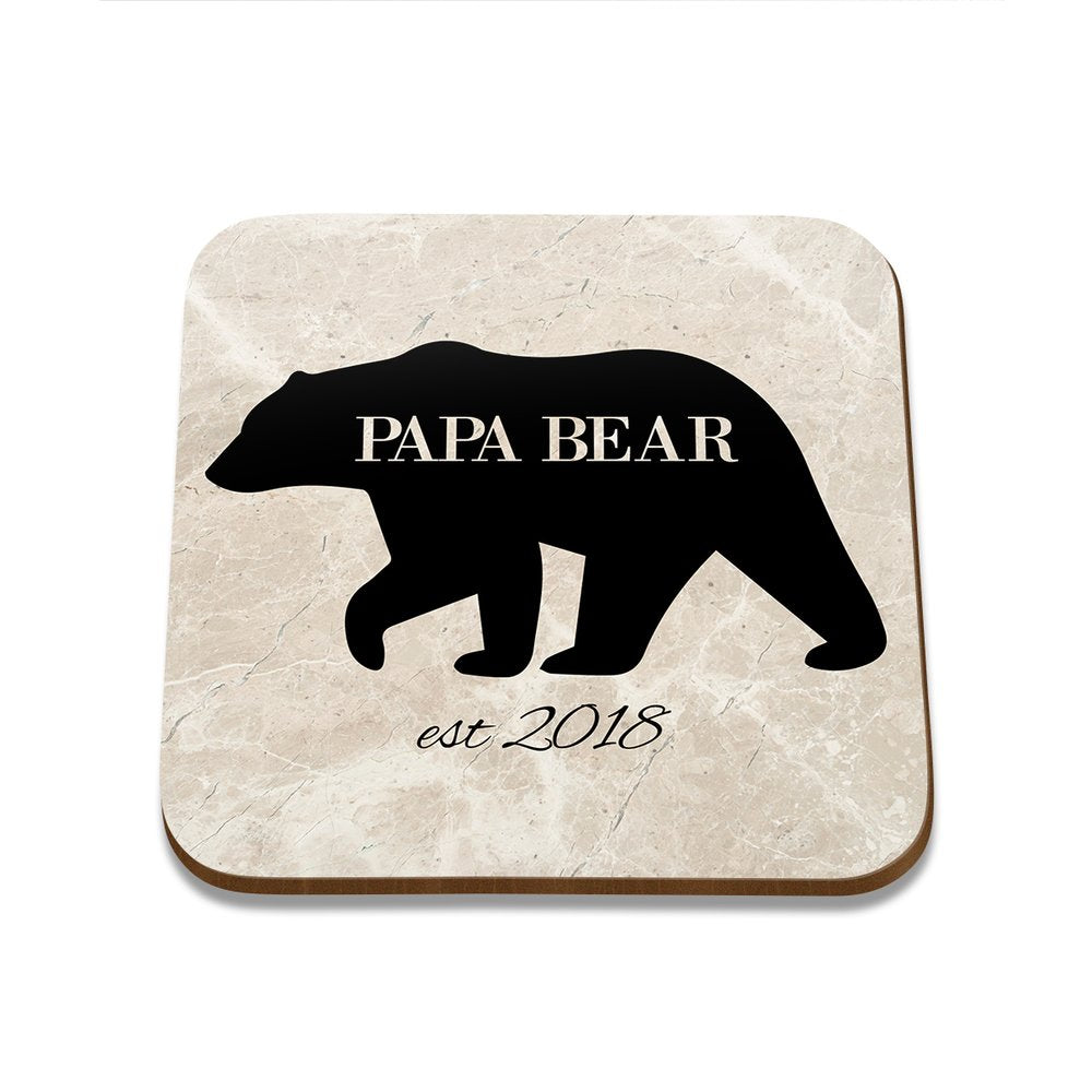 Papa Bear Square Coaster - Single