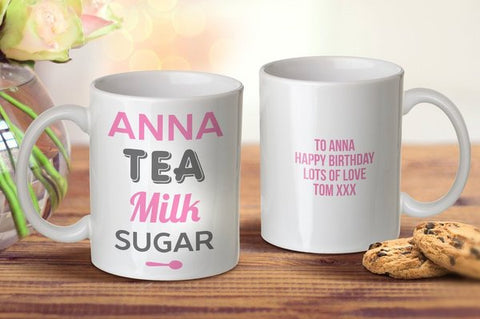 Tea Milk Sugar Mug