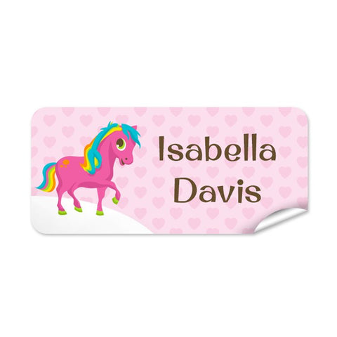 Pony 48pk Labels - Rectangle