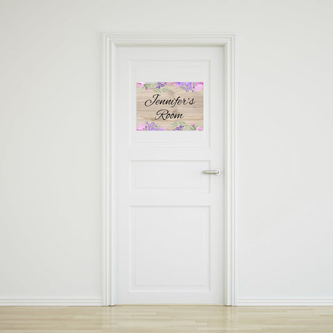Flower Door Sign - Large