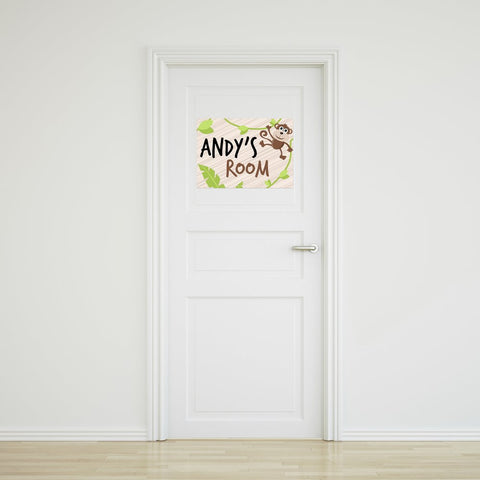 Monkey Door Sign - Large