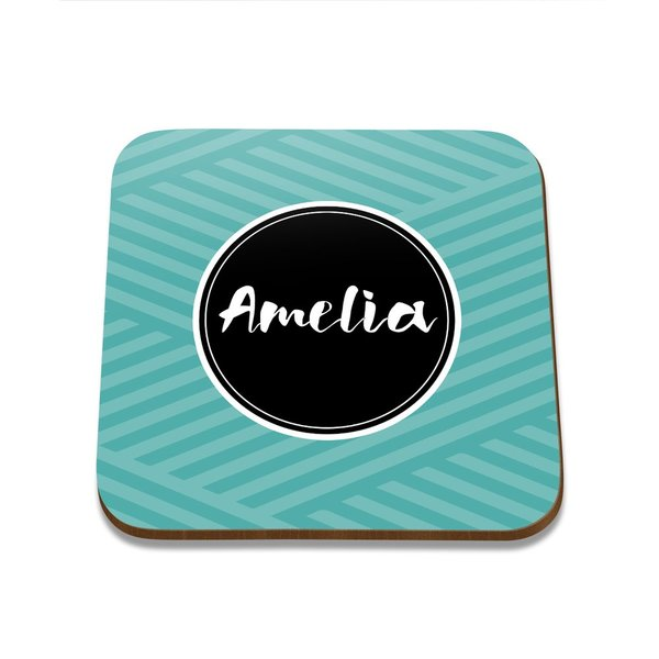 Name Square Coaster - Set of 4