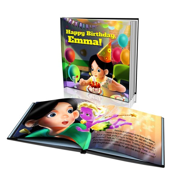 Large Hard Cover Story Book - Happy Birthday