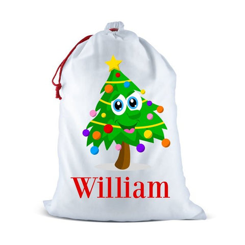 Christmas Tree Santa Sack