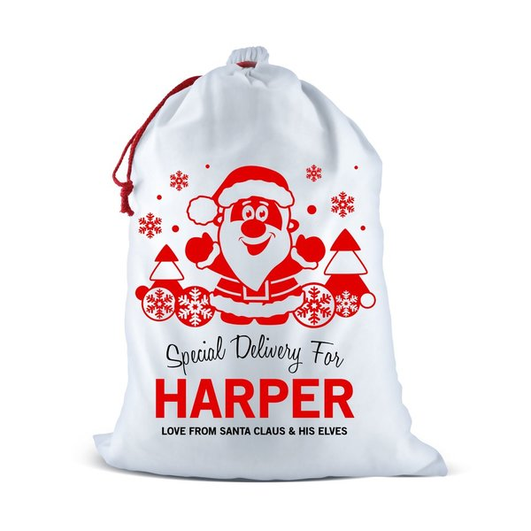 Santa Scene Santa Sack (Temporary Out of Stock)
