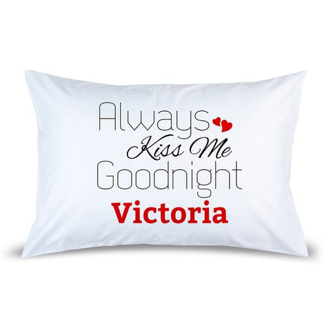 Red Kiss Pillow Case