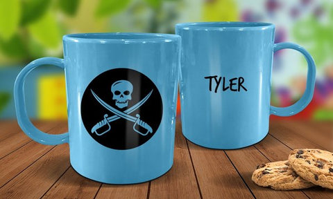 Pirate Plastic Mug - Blue