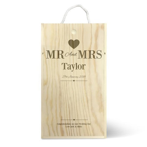 Mr & Mrs Double Wine Box
