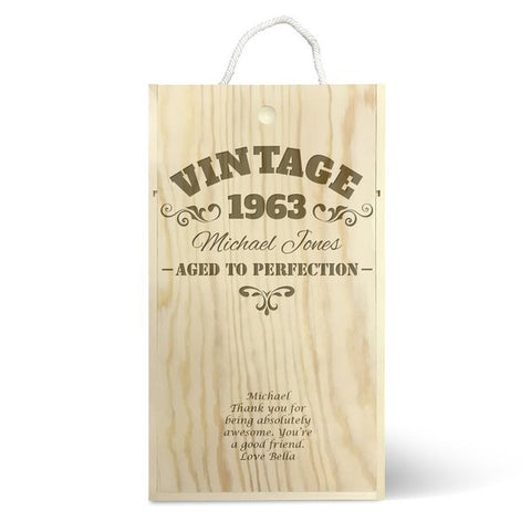 Vintage Double Wine Box