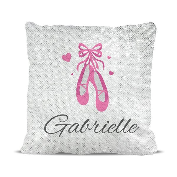 Ballet Shoes Reversible Sequin Cushion Cover