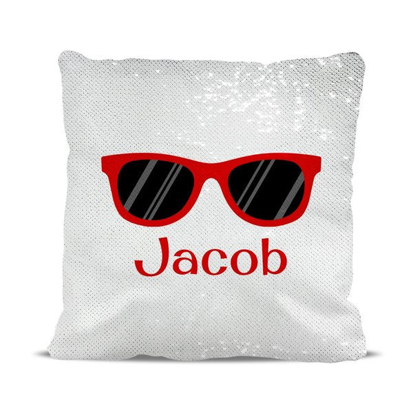 Sunglasses Reversible Sequin Cushion Cover