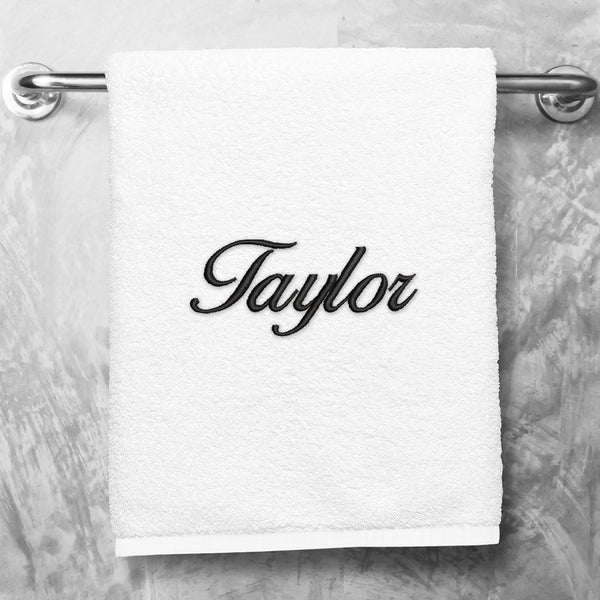 Embroidered Bath Towel - Plush