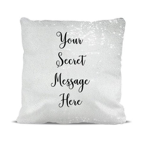 Add Your Own Message Magic Sequin Cushion Cover