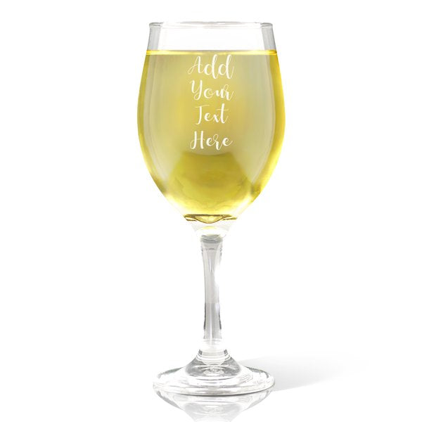 Add Your Own Message Wine Glass