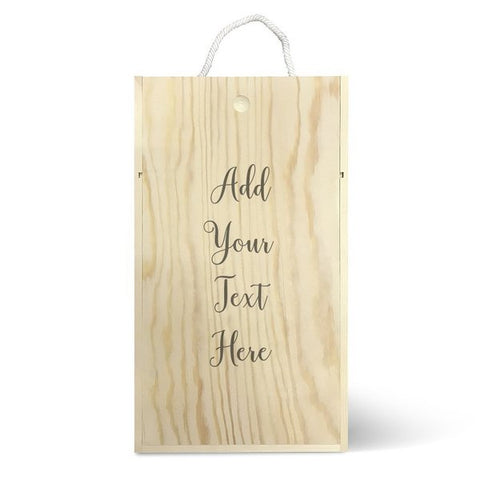Add Your Own Message Double Wine Box