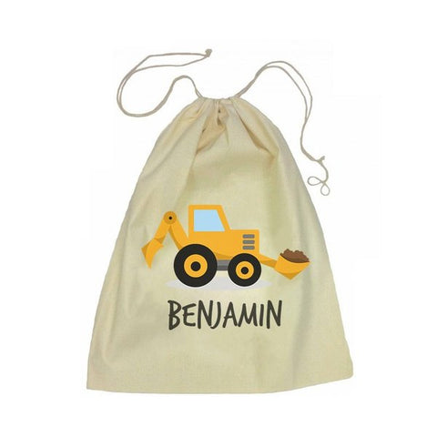 Calico Drawstring Bag - Little Digger