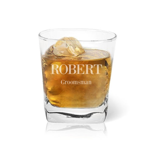Groomsman Tumbler Glass