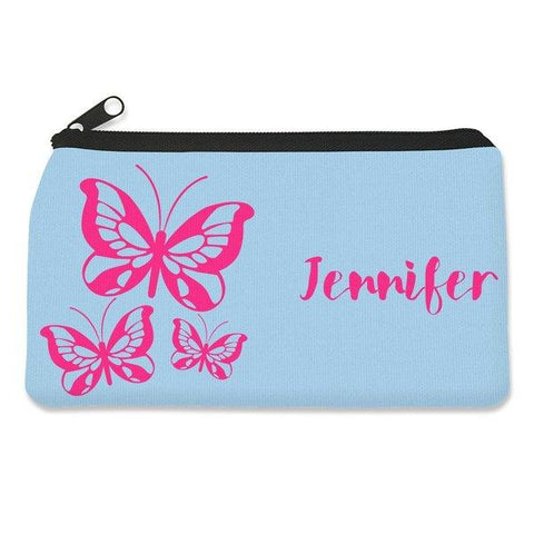 Pink Butterflies Pencil Case - Small