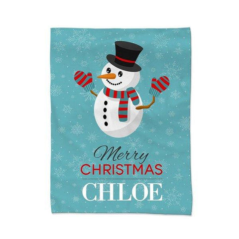 Happy Snowman Blanket - Medium
