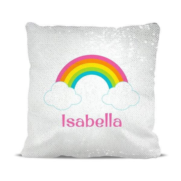 Rainbow Reversible Sequin Cushion Cover